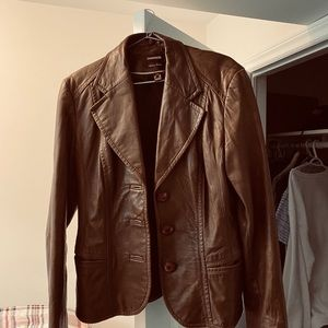 Daniel Leather Brown Jacket Large
